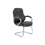 Nairn Brown Leather Faced Visitor Chair