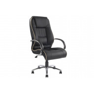 Freya High Back Executive Black Leather Faced Chair