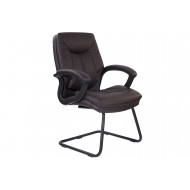 Next-Day Clayton Burgundy Leather Faced Visitor Chair