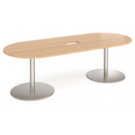 Gerber Power Ready Radial End Boardroom Table