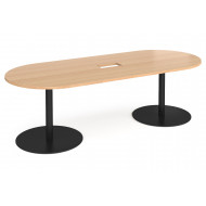 Tasso Power Ready Radial End Boardroom Table