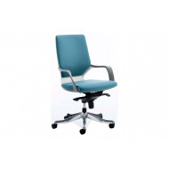 Russo Medium Back Fabric Executive Chair (Blue)