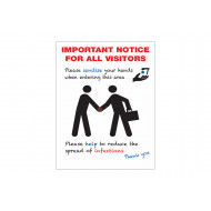 Please Sanitise Your Hands Infection Control Sign