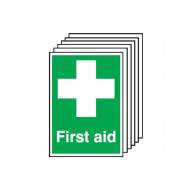 First Aid Safety Sign (Multipack)