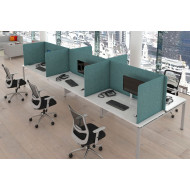 Protective Freestanding 3 Sided Fabric Desktop Screens