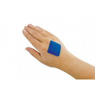 Pack Of Blue Detectable Square Plasters