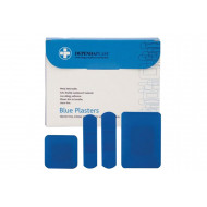 Pack of blue detectable plasters (assorted)