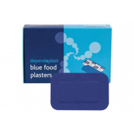 Pack Of Blue Detectable Patch Plasters