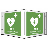 AED Automated External Defibrillator Projecting 3D Sign