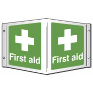 First Aid Projecting 3D Sign