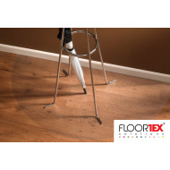 Cleartex Poly Half Moon Chair Mat For Low Pile Carpets & Hard Floors