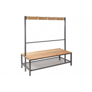 QMP Double Sided Island Cloakroom Bench