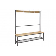 QMP Single Sided Island Cloakroom Bench
