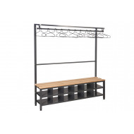 QMP Island Bench With Clothes Rail & Shoe Storage