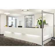 Protective Acrylic Clear Mobile Partition Wall