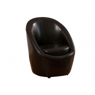Nador Leather Bucket Tub Chair