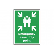 Emergency Assembly Point Post Mounted Safety Sign
