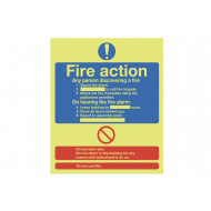 Nite-Glo Standard Fire Action Notice