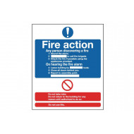 Fire Action Notice Self Extinguishing Sign