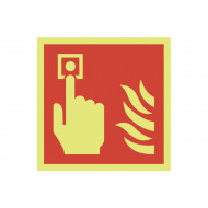 Xtra-Glo Fire Alarm Call Point Symbol Sign