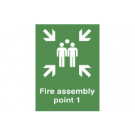 Fire Assembly Point 1 Post Mounted Safety Sign