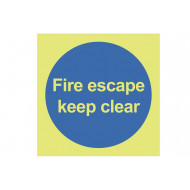 Nite-Glo Fire Escape Keep Clear Sign