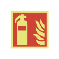 Nite-Glo fire extinguisher sign (symbol only)