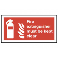 Fire Extinguisher Must Be Kept Clear Safety Sign