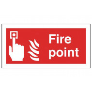Fire Point Self Extinguishing Sign
