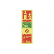 Nite-Glo Water Extinguisher For Use On Sign