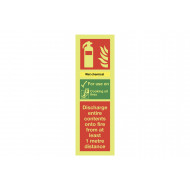 Nite-Glo Wet Chemical Extinguisher For Use On Sign