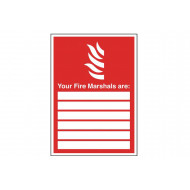 Your Fire Marshals Are Safety Sign