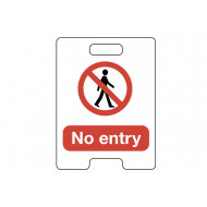 No Entry Temporary Floor Stand