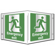 Emergency exit projecting 3D sign