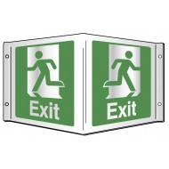 Exit Projecting 3D Sign