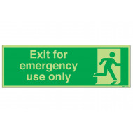 Nite-Glo Exit For Emergency Use Only Safety Sign