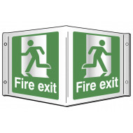 Fire Exit Projecting 3D Sign