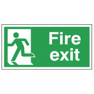 Fire Exit Running Man Left Self Extinguishing Sign