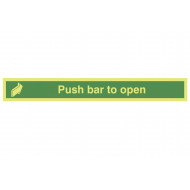Nite-Glo Push Bar To Open Sign