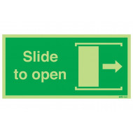 Nite-Glo Slide To Open Right Sign