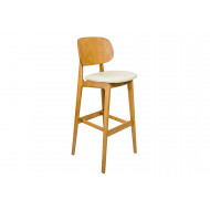 Gardena Bar Stool With Faux Leather Seat