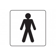 Male Symbol Square Workplace Sign