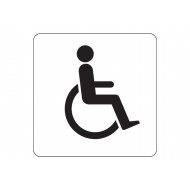 Disabled Symbol Square Workplace Sign