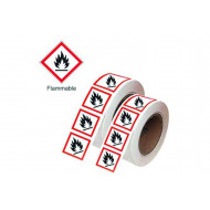 GHS Symbols On A Roll (Flammable)
