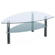 Braun 2 Tier Boat Shaped Coffee Table