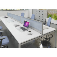 Glazed Desktop Screens For Bench Desks