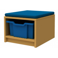 Arc Single Column Storage And Seating Unit With 1 Tray
