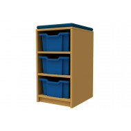 Arc Single Column Storage And Seating Unit With 3 Trays
