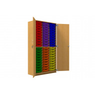Tall Tray Storage Cupboard With 60 Shallow Trays