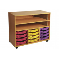Triple Bay Art Storage With 12 Shallow Trays